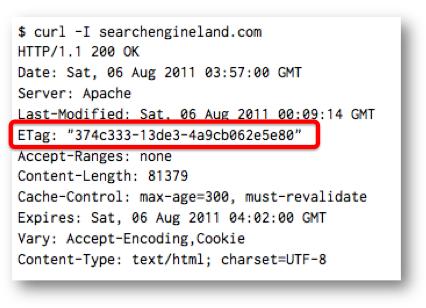 Сервер возвращает клиенту ETag