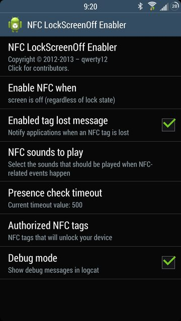 NFC LockScreenOff Enabler: разблокировка NFC-тегом