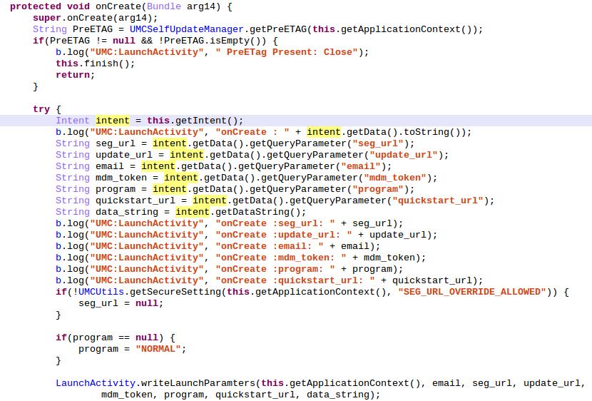 Декомпилированный код метода onCreate