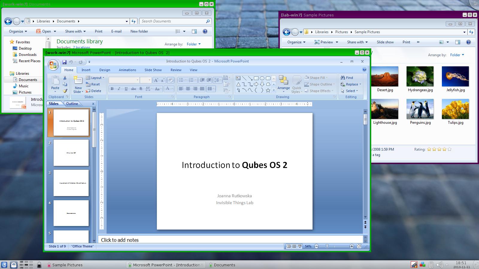 QubesOS: бесшовный запуск приложений в Windows-домене