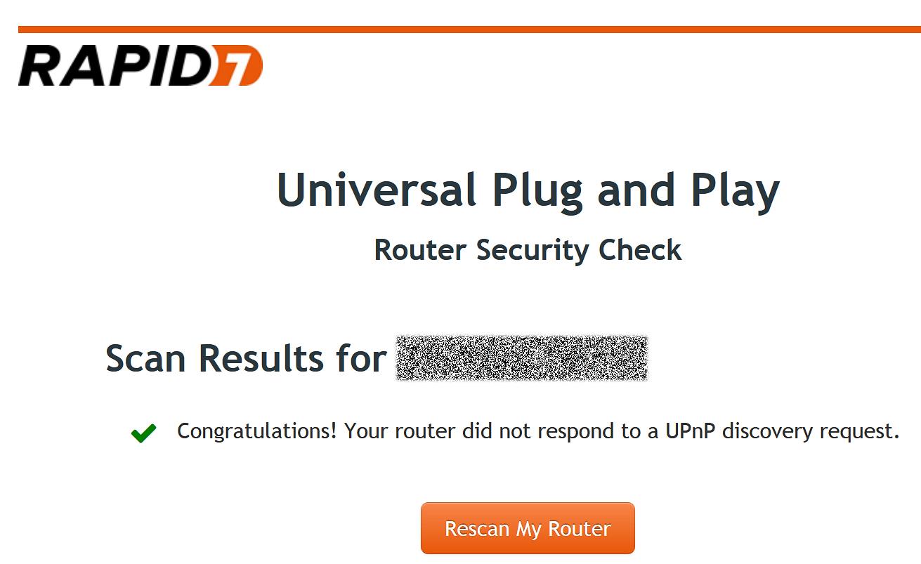 Запросы UPnP роутером проигнорированы