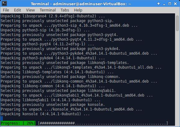 Установка KDE Plasma 5