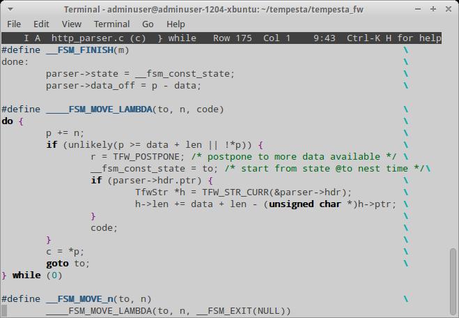 Исходный код парсера HTTP