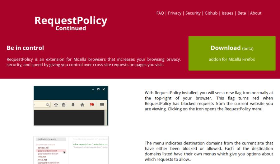 Блокируем лишние межсайтовые запросы в Firefox