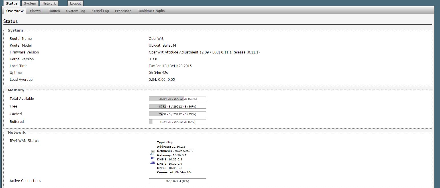 Рис. 5. Удобный веб-интерфейс OpenWRT с базовыми настройками