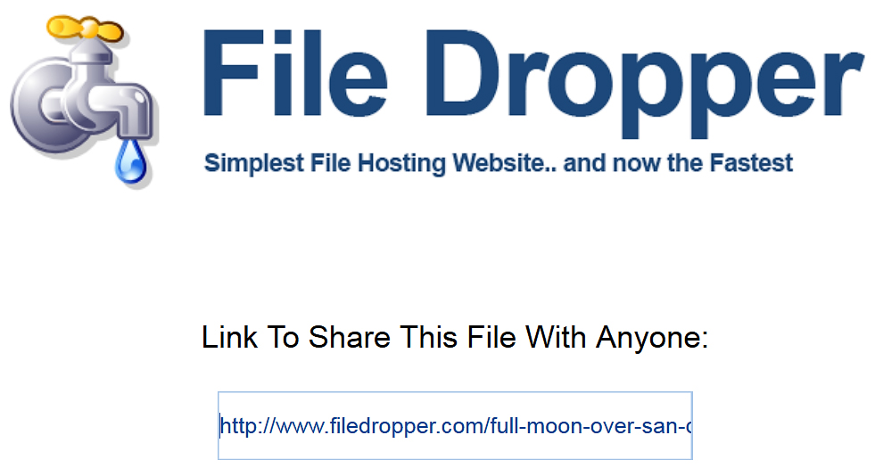 File Dropper — передача в один клик