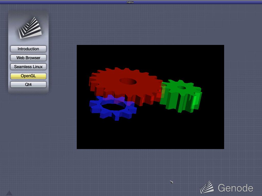 Стандартный тест OpenGL в Genode