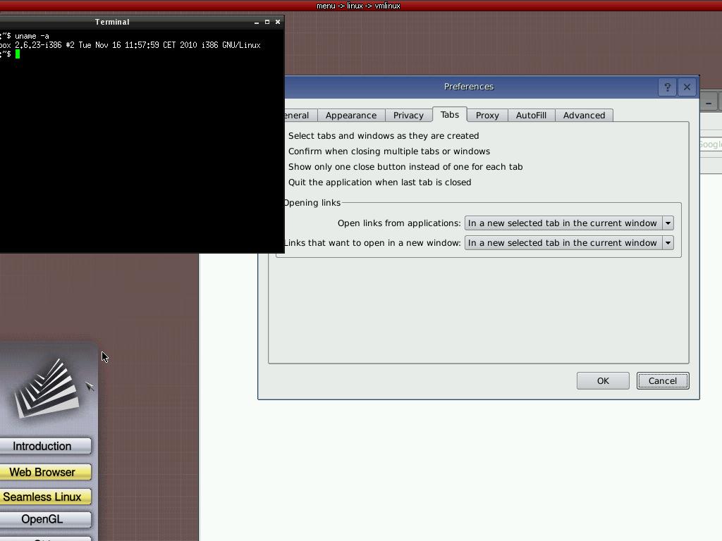 Одновременный запуск браузера и паравиртуализированного Linux поверх Genode
