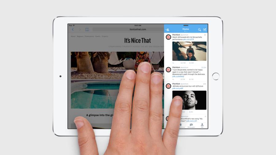 Режим Slide Over позволяет приложению занять треть экрана