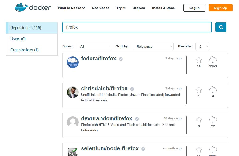 Docker Hub собственной персоной