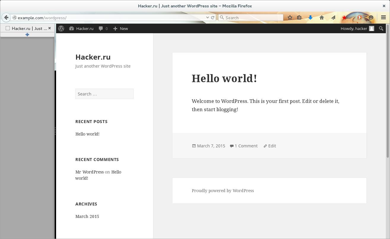 Запущенный WordPress