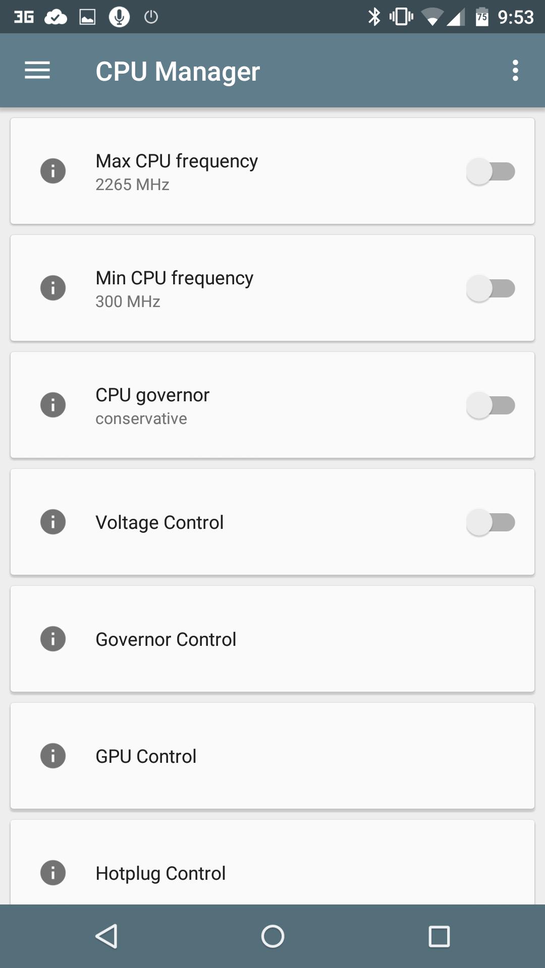 Менеджер CPU и GPU