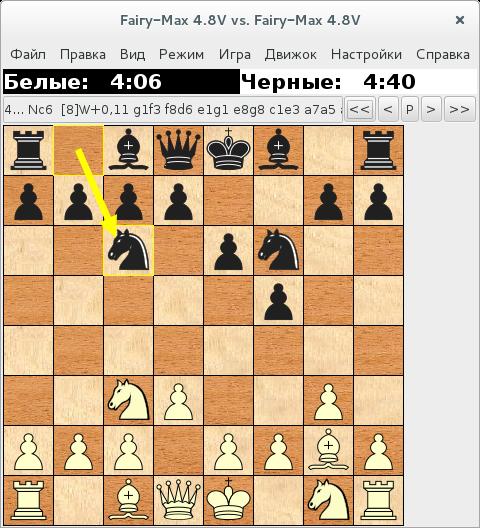 Debian играет в шахматы сам с собой