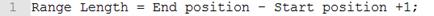 Код для вычисления `Range Length`