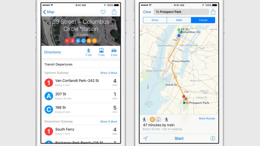 Apple Maps не даст запутаться в хитросплетениях метро Нью-Йорка