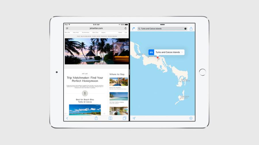 Режим Split View делит экран между двумя программами