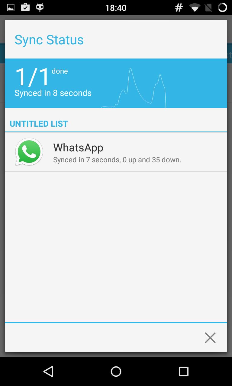 Синхронизируем злосчастный WhatsApp