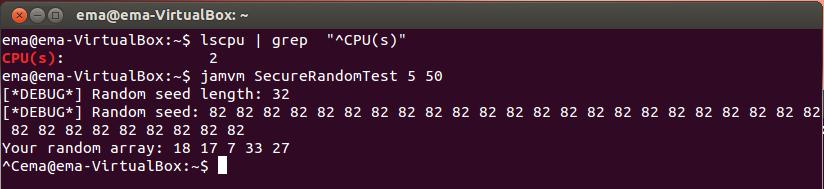 Рис. 18. generateSeed на двух процессорах одновременно с задачей, потребляющей процессорное время