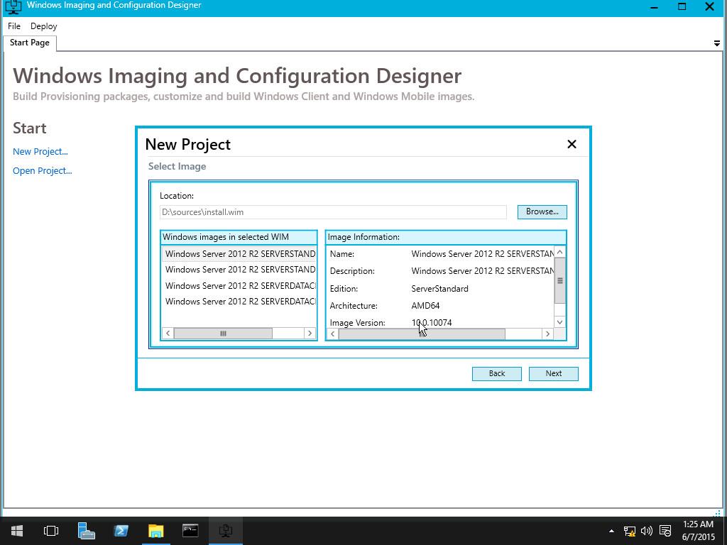 Windows ICD позволяет просто настроить загрузочный образ