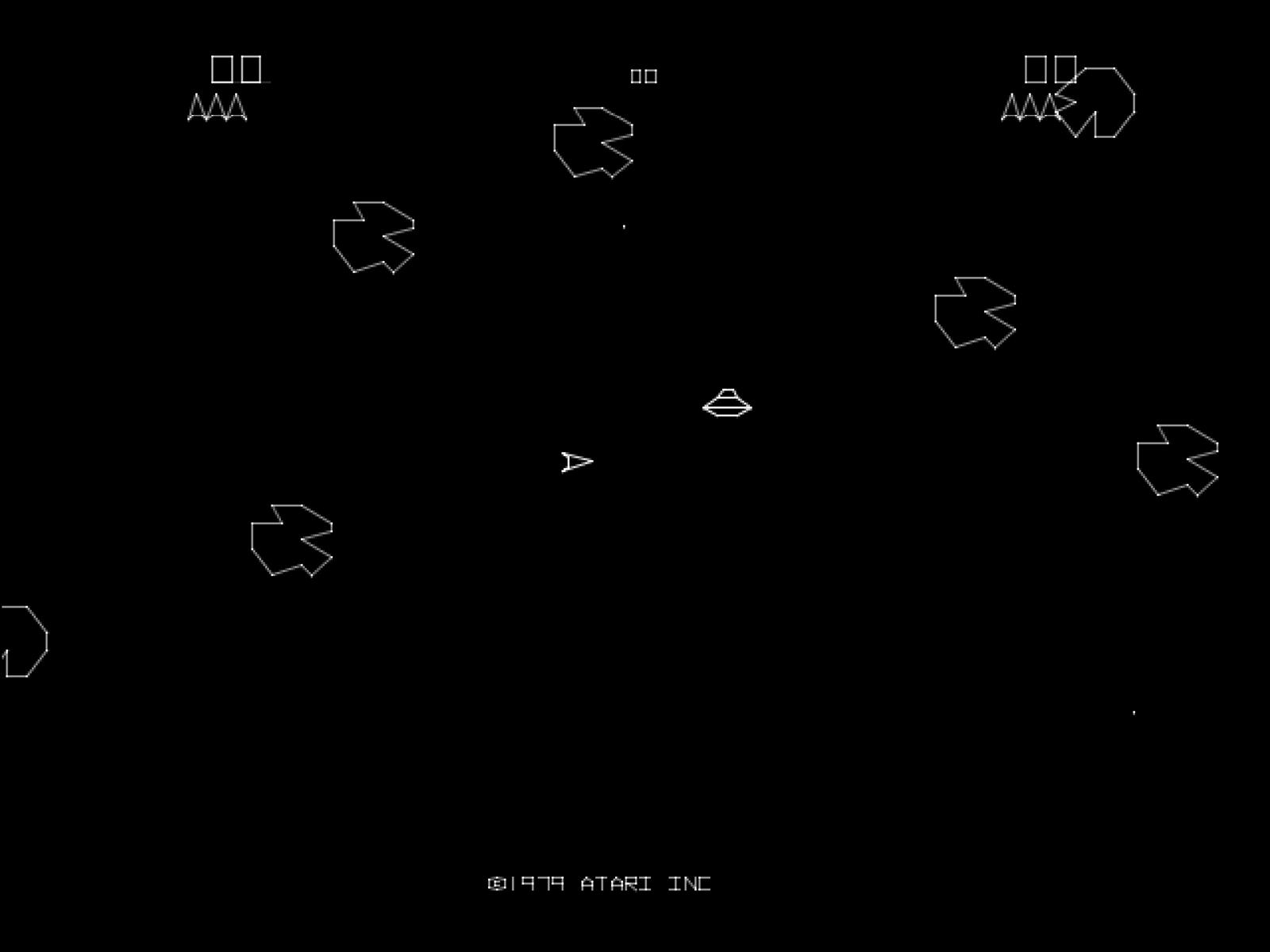 Оригинальный Asteroids 1979 года