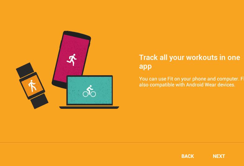 Главное окно приложения Google Fit