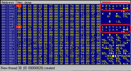 Работа генератора имен C&C-сервера Dirty