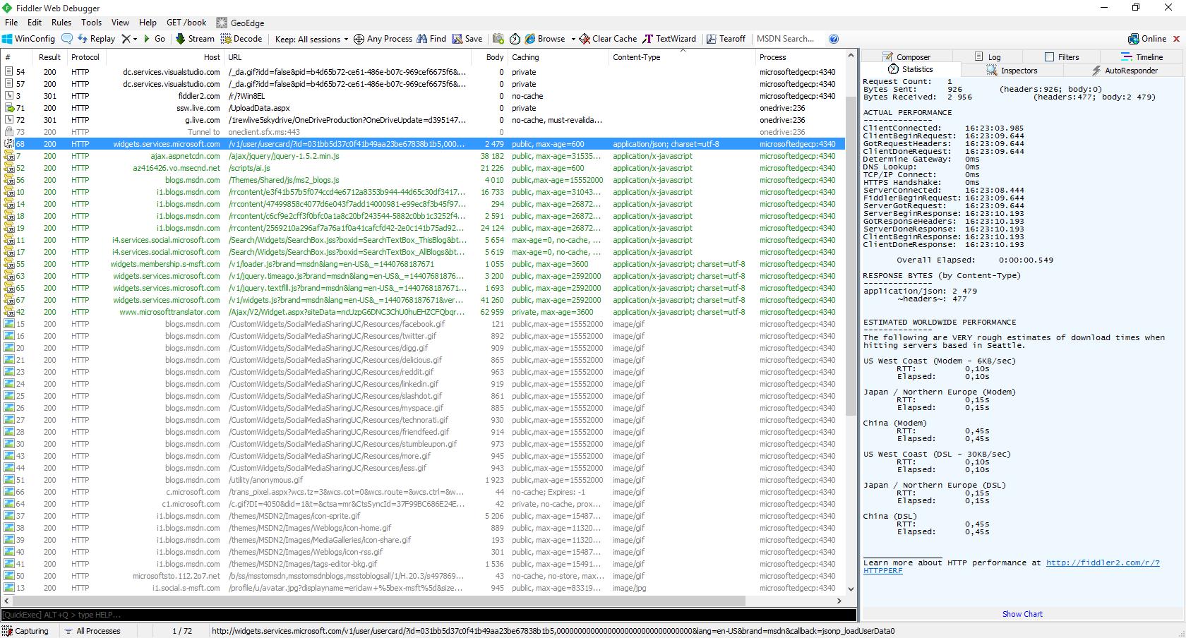 Фрагмент лога HTTP-прокси