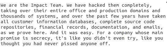 Отрывок из README файла, приложенного к первому дампу. Хакеры пишут, что собирают информацию о компании «на протяжении пары последних лет» (over the past few years)