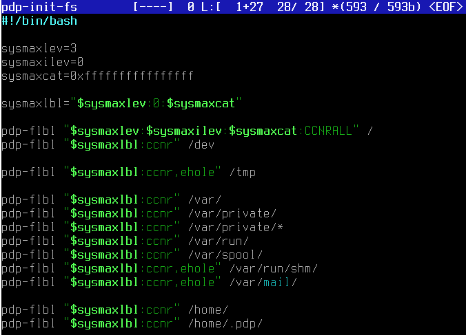 Скрипт инициализации правил разграничения доступа для ключевых директорий корневой файловой системы Astra Linux SE