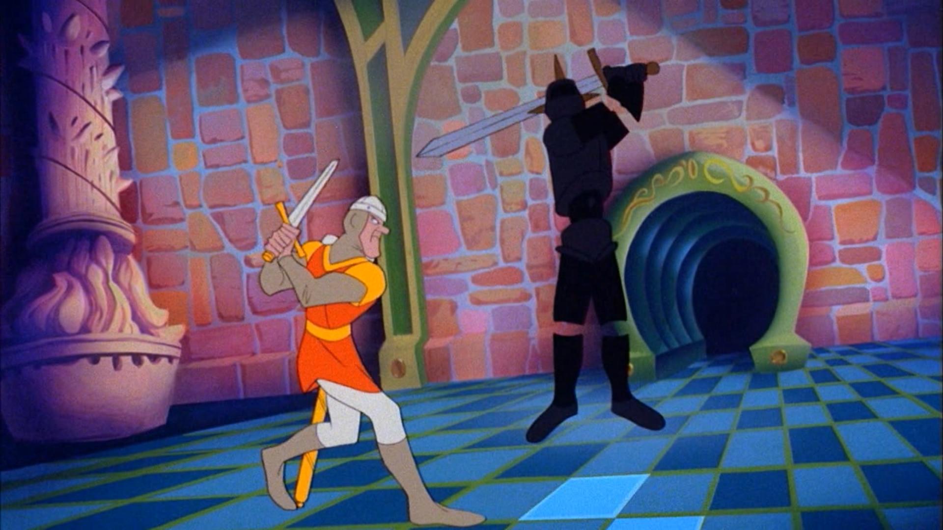 Кадр из оригинальной версии Dragon's Lair
