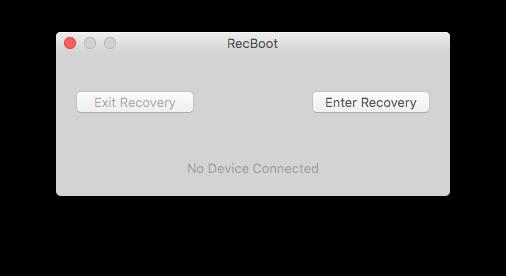Интерфейс RecBoot