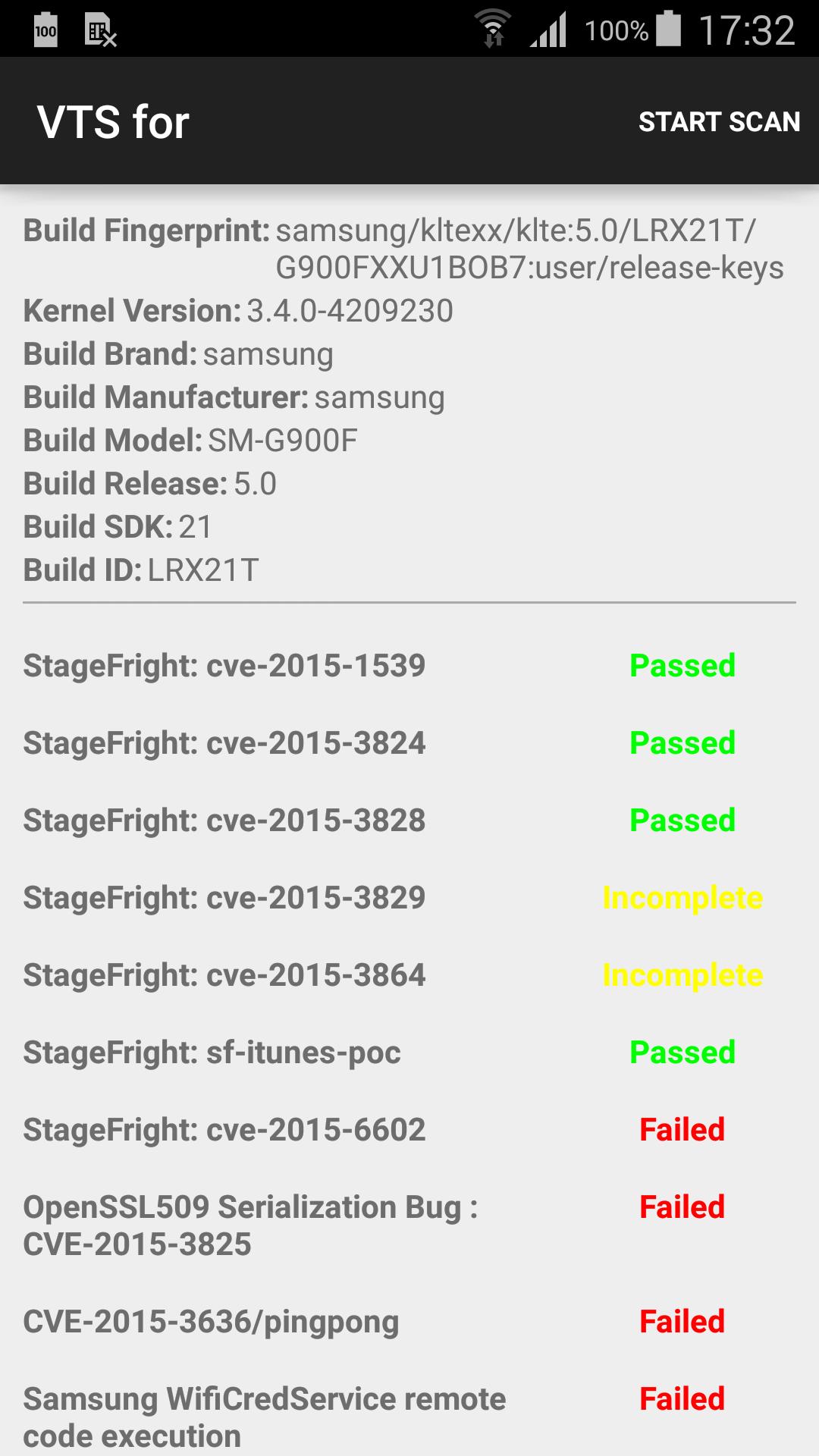 Проверка устройства на наличие уязвимостей с помощью Android VTS
