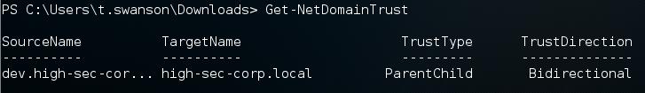 Рис. 3. Результат Get-NetDomainTrust