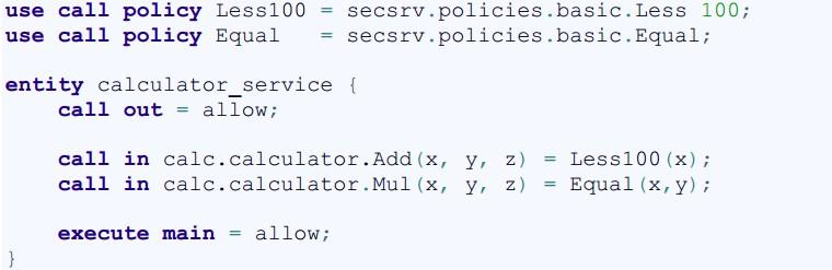 Если бы функции калькулятора были критически важными с точки зрения безопасности, то его конфигурация CFG выглядела бы так