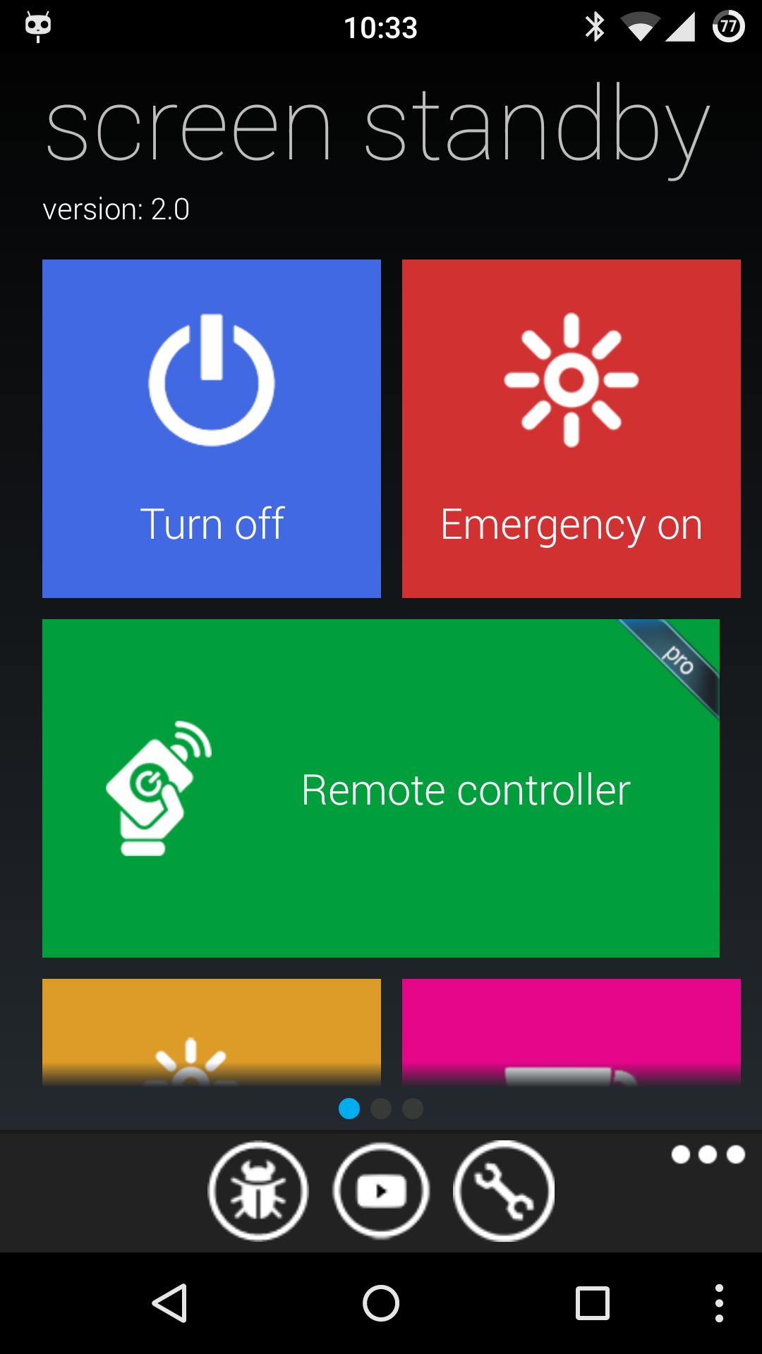 Screen Standby с интерфейсом в стиле Metro