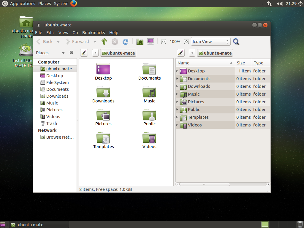 Ubuntu MATE собственной персоной