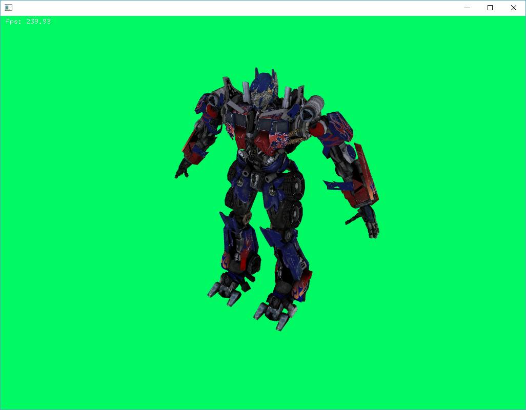 Приложение, выводящее 3D-модель