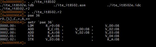 Рис. 5. Вывод REIL для заданного ESIL-кода