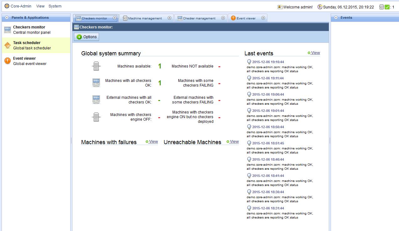 Core-admin позволяет управлять серверами и приложениями