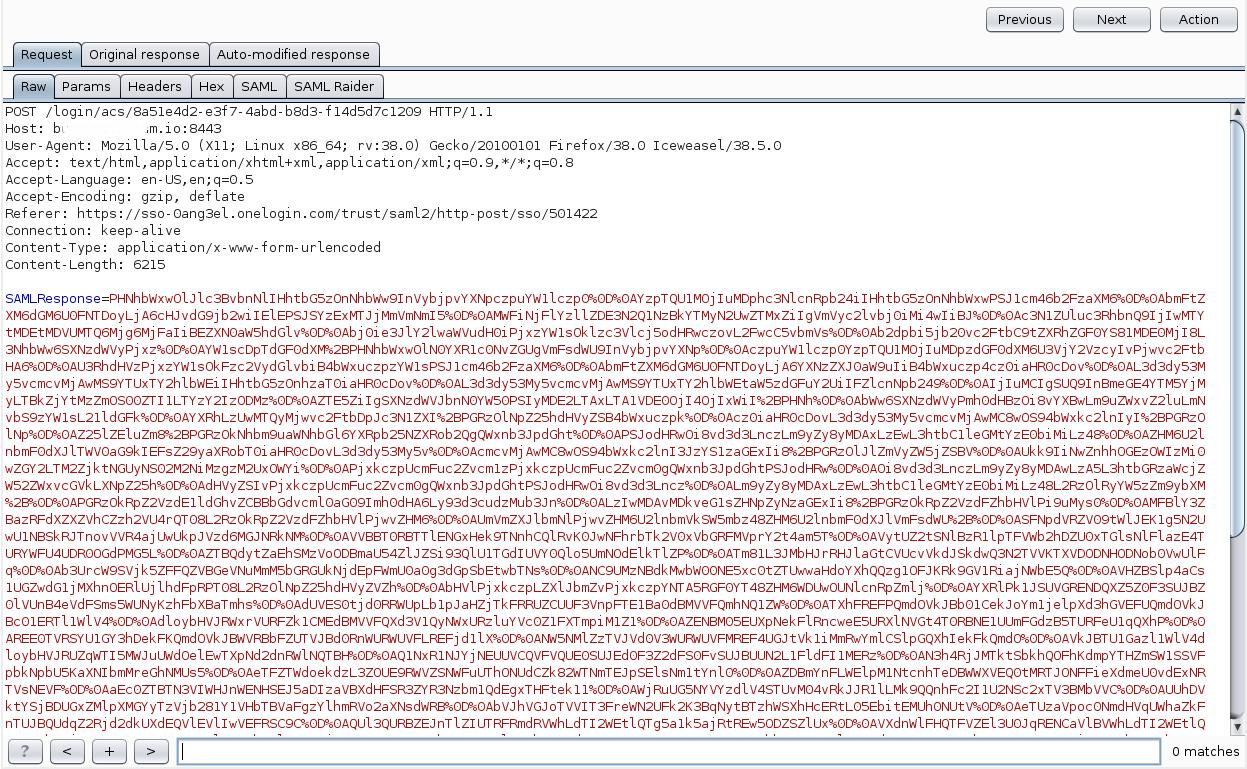 Рис. 9. Передача SAML Response в приложение