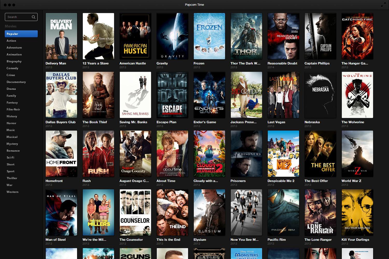 Popcorn Time, каким мы его помним. Сходство с Netflix — разительное