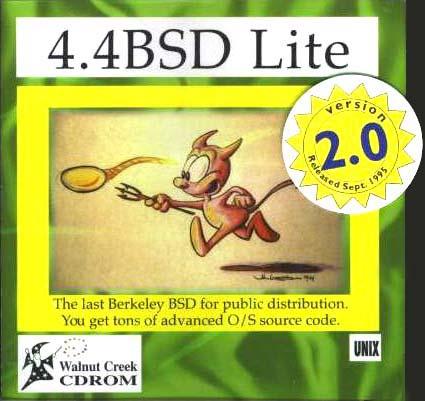 Оригинальная обложка диска 4.4BSD Lite