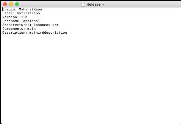 Заполненный файл Release