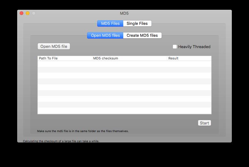 Программа MD5 для Mac
