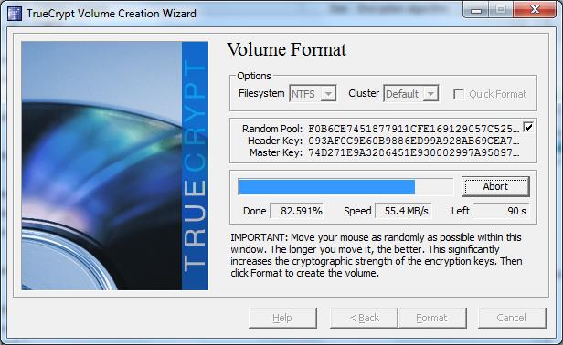 Скорость работы с диском, зашифрованным TrueCrypt