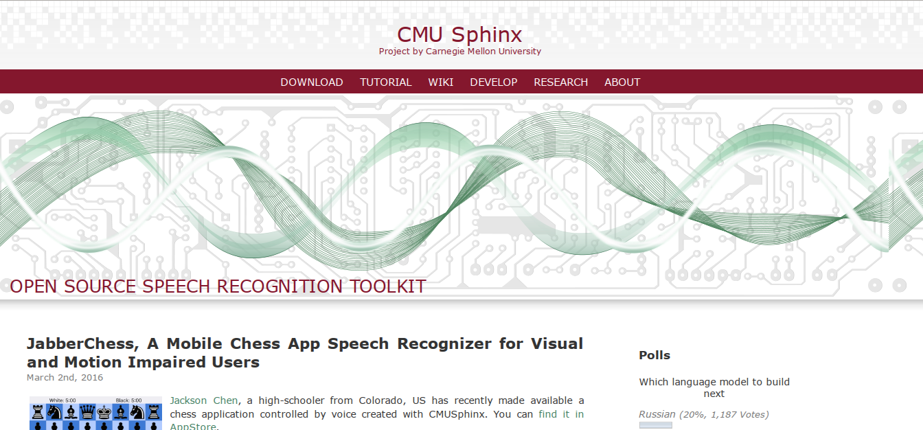 Сайт проекта CMU Sphinx — отсюда стоит начинать работу