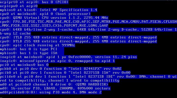 Загрузка OpenBSD