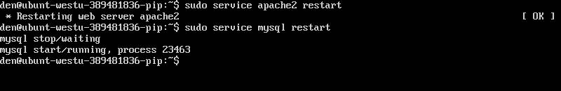 Рис. 10. Перезапуск серверов Apache/MySQL